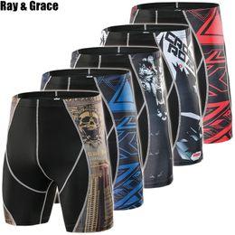 Tight Leggings Australia - RAY GRACE Compression Men's Running Tights Quick Dry Gym Fitness Sport Leggings Running Shorts Athletic Underwear Sport Shorts