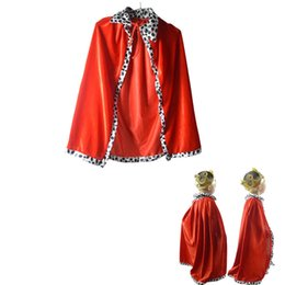 boy king crown Australia - Boys Girls Vampire Witch Devil Cloak King Prince Crown Children CosplayCarnival Birthday Party halloween costume for kids