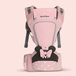 0-36 Months Bow Breathable Front Facing Baby Carrier Hipseat 20kg Infant Comfortable Sling Backpack Pouch Wrap Carriers on Sale