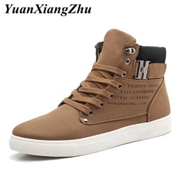 mens canvas lace up shoes sneakers NZ - Mens Casual Shoes Lace-up High Top Men Shoes Fashion Sneakers 2019 Autumn Comfortable Non-slip Canvas Male Big Size 38-47
