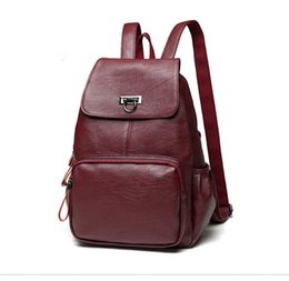 laptop american girl UK - Best Quality Genuine Leather Women Backpack Bag European Classical Style Women School Bag Leather Laptop Bag Free Shipping