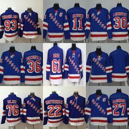 NY Rangers 36 Mats Zuccarello 11 61 93 76 22 27 Ryan McDonagh 30 Henrik  Lundqvist Hockey Jersey 1e811e32d