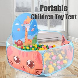 Kids Play Ball Tent Australia - Portable Children Toy Tent Ocean Ball Pit Pool Baby Kid Indoor Outdoor Game Tool House Play Hut Pool Play Tent
