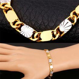 $enCountryForm.capitalKeyWord Australia - New Two Tone Chain Bracelet 18K Gold Platinum Plated Trendy Gift Men Jewelry Summer Style MGC H1411