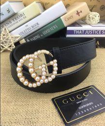 Brass Needles Australia - 2019 Gucci shipping Hot selling new Men womens Black belt Genuine leather Letter belts brass belt for gift top seller Including boxs