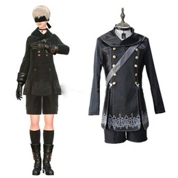 Anime Clothes Free NZ - YoRHa No. 9 Type S costumes cosplay Uniforms Japanese game NieR:Automata clothing Masquerade Mardi Gras Carnival costumes Free Shipping
