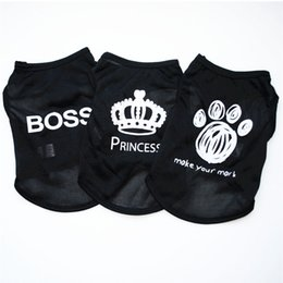 38df930290be Pet Clothing Fashion Puppy Small Dog Cat Vest T Shirt Summer Polyester  Clothes for All Sized Cats Little Dogs BOSS PRINCESS