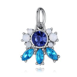 Wholesale Blue Crystal Pendants For DIY Creative Necklace Bracelets Rhinestones Pendants Special Gifts For Wedding Bridal Women Valentine from sapphire pearl rings manufacturers