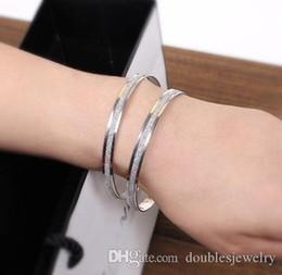 Gold 18k Shop Australia - European and American fashion bracelet diamond alloy matte silver and gold BRACELET LADIES temperament high-end high-end designer goods shop