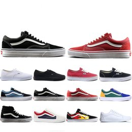 Wholesale Top Fashion Van OFF THE WALL old skool FEAR OF GOD For men women canvas sneakers YACHT CLUB MARSHMALLOW fashion skate casual shoes