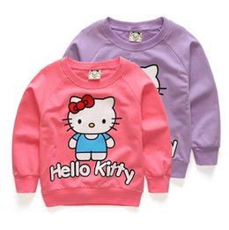56bfa823a Baby Girls hoody sweatshirt autumn sweater kids clothes Hello Kitty Girl  Cute Cotton T-shirt long sleeve jerseys New Arrival