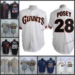 Navy blue meNs baseball jersey online shopping - Mens Baseball Jerseys Posey Home Away Road Embroidered Navy Blue White Gold Grey orange Stitched baseball jersey