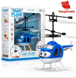 wholesale toys helicopter NZ - LED Gadget Minion drone RC Helicopter Aircraft airplane Fly Flashing helicopter Hand Control RC Toy