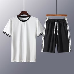 $enCountryForm.capitalKeyWord Australia - 2019 Summer Men 2 Piece Sets Short Sleeve Tracksuits Streetwear Casual Sports Suit Funny T-Shirt+Shorts Mens Suit Clothing 4XL