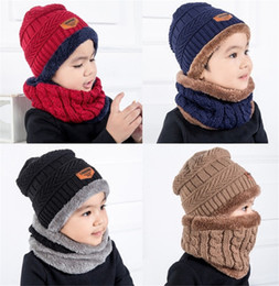 3259f6adc997ee New Boys Girls Winter Knitted Beanie Hat And Scarf Set Toddler Kids Warm  Fleece Mask Balaclava Cap Outdoor Skiing Sports Scarf Sets