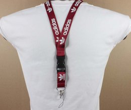 $enCountryForm.capitalKeyWord NZ - Wholesale High-grade 100pcs lot red wine white ADDS clothing brand Neck strap Lanyard for MP3 4 cell phone Keychain camera in stock#5166