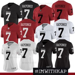 488aefaf4 COLIN KAEPERNICK 7 IMWITHKAP JERSEY I M WITH KAP Mens Women Black White Red  Ivory Double Stiched High Quanlity Football Jerseys Size S-XXXL