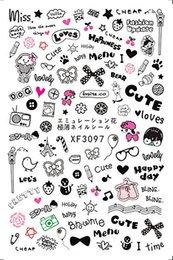 $enCountryForm.capitalKeyWord NZ - 30 Styles! Fashion Patterns! 1 Sheet Nails Art Manicure Back Glue Design Nail Sticker For Nails Decoration