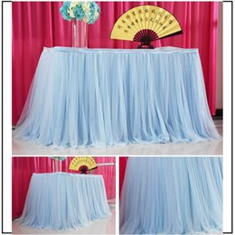 coloured tutus Australia - Tutu Table Skirt Peng Peng Yarn Dessert PlatformTable Clothes Many Colour Wedding Celebration Tablecloth Factory Direct Selling 35za p1