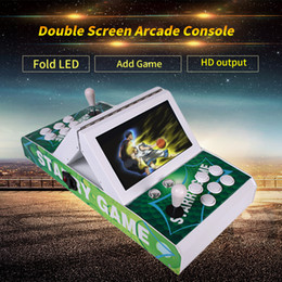 arcade games NZ - 2019 NEW 3D Pandora Box Double LCD Folding and Splitting Game Combiner,10-inch double classic joystick arcade,Factory Direct Sales Products
