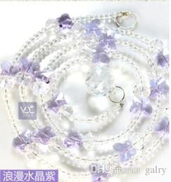 venetian glass beads 2019 - 1M Elegant Crystal Glass Waterdrop Shaped Wedding Curtain Bead Decor Pendant cheap venetian glass beads