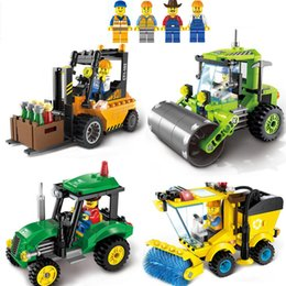 Build Toy Car Australia - City Series Sweeper Car Truck Model Car Assemble Building Blocks car Educational Toys Learning Education Bricks Kids Toys 4 styles