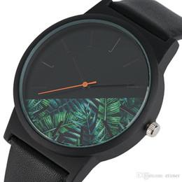 $enCountryForm.capitalKeyWord NZ - Unique Unisex Watches Tropical Jungle Design Quartz Wristwatch for Men's Women's Creative Casual Sport Clock Hour Gift 2018