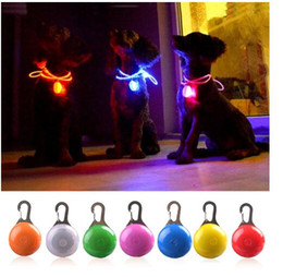 $enCountryForm.capitalKeyWord Australia - fast ship LED Flashlight Dog Cat Collar Glowing Pendant Night Safety Pet Leads Necklace Luminous Bright Decoration Collars For Dogs