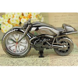 decor clocks wholesale NZ - Home Decoration Alarm Clock Motorcycle Model Alarm Clock Super Cool Motorcycle Alarm Clocks Holiday Creative Retro Gift Decor BC BH0824
