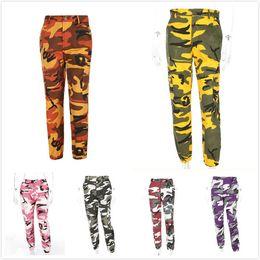66ea4eed2a10a Purple Pink Camo Pant Orange Camouflage Overall Women Sweatpants Cargo  Harem Pants Trousers Hip Hop Pantalon Femme Mujer C19040801