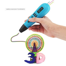 3d Printed Pen Australia - ALLOYSEED Children 3D Printing Pen 12V 2A 3D Arts and Crafts Drawing Graffiti Pens Kids Children Montessori Education Tools Gift