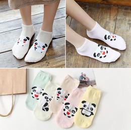 Purple Panda Socks Australia - Wholesale New Panda Prints Women Short Socks Casual Low Ankle Sock Summer Spring Animals Funny Socks for Girls 10 Pairs