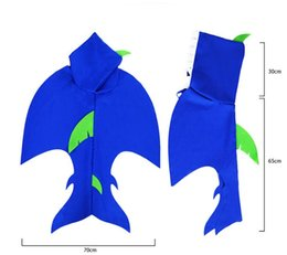 christmas stage decor NZ - Party Festival Decoration Animals Cloak Shark Tail Cape Costume Blue Kids Cosplay Costumes Props Halloween Christmas Decor