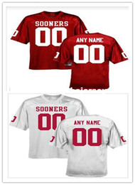 32a9aba24 Discount customized college football jerseys - Cheap custom Oklahoma  Sooners red College football jersey Customized Any