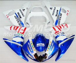 R6 White Blue Australia - 3 gifts New Injection ABS Fairing kits 100% Fit for YAMAHA YZFR6 03-04 YZF R6 2003-2004 YZF600 bodywork color Blue White B29