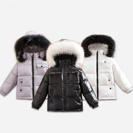 down parkas for kids NZ - Brand Winter Kids Duck Down Jackets for Boys Girl Snow Wear Child Thick Hooded Coat with Fur Collar Toddler Park Overcoat Parkas CJ191205