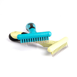 dog brushes wholesale NZ - DHL Shipping Rubber Pet Fur Knot Cutter Dog Grooming Shedding Rake Dog Cat Hair Removal Comb Pet Brush Grooming Tool Pet Hair shedding Comb