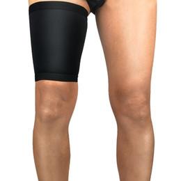 31346680f76e4a 1pc Women Men Thigh Upper Leg Sleeve Cover Soft Breathable Anti-sweat Anti-slip  Compression Sport Anti-muscle strain Protector