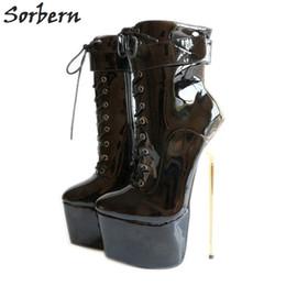 "$enCountryForm.capitalKeyWord Australia - Sorbern Sexy 22Cm 8.7"" Fetish Extreme High Heels Pumps Womens Shoes Heels 2018 Stiletto Plus Size Bdsm Party Club Runway Shoes"