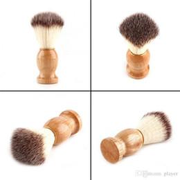 $enCountryForm.capitalKeyWord Australia - 2018 Barber Hair Shaving Razor Brushes Natural Wood Handle Beard Brush For Men Best Gift Barber Tool