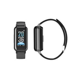$enCountryForm.capitalKeyWord UK - Fashion T89 Smart Wristbands Bracelet TWS Earbuds Bluetooth Earphones Tracker Heart Rate Wristband Sport Watch for IOS android Smartphones