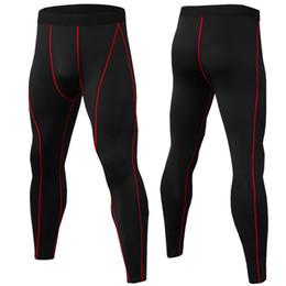Blue Grey Leggings UK - New Bodybuilding Compression Men Pants Fashion Tights Jogger Pants Fitness High Elasticity Base Layer Man Leggings Dropshipping