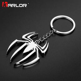Discount metal spiderman - ar keychain 1Pcs Metal Superhero Spiderman Car Keychain Key Ring The Avengers Chaveiro Fashion Creative Keybuckle Auto K