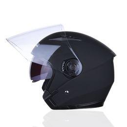 $enCountryForm.capitalKeyWord Australia - JIEKAI Motorcycle Helmet Half Helmet Half-Covered Double Lens Four Seasons Summer Electric Car Anti-Fog Four Seasons