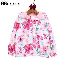 Leather jackets for kids girLs online shopping - Abreeze New spring autumn children coats fashion floral girls hooded jackets T long sleeve outerwear for kids girls CQ08