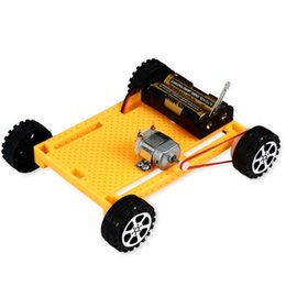 Boys Science Toys Australia - Creative Plastic Electric Four-wheel Vehicle Technology Small Manufacture Assembly Material Package Children DIY Popular Science Toys Exerci