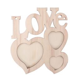 Frames Love Australia - Wooden Photo Frame DIY Love Shape Durable Mini Family Photo Frame Home Decor Accessories Picture Display Holder