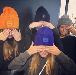 $enCountryForm.capitalKeyWord Australia - Smiling face Beanie Skull Caps knitted Kids Baby Boy Girls Cashmere Eye Warm Acne Studios Hats Tide Street Hip-hop Wool Cap Children