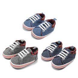 $enCountryForm.capitalKeyWord Australia - Baby Prewalker Canvas Shoes Soft Soles Lace-up Casual Infants First Walkers