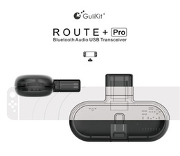 Usb Adapter For Bluetooth Australia - GuliKit Route+Pro Bluetooth Audio USB Transceiver Wireless Headset Receiver and Audio Transmitter USB C Adapter for Nintendo Switch